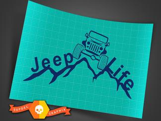 2 Jeep Life Decal Vinyl Sticker Car Window Truck Laptop Jeep Sticker Car Decal