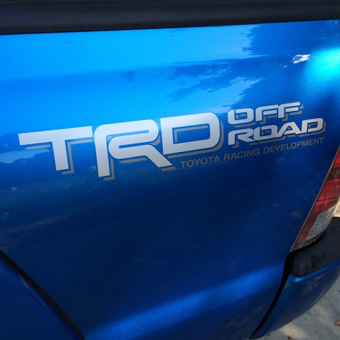 2 side Toyota TRD Truck Off Road 4x4 Toyota Racing Tacoma Decal Vinyl Sticker#3