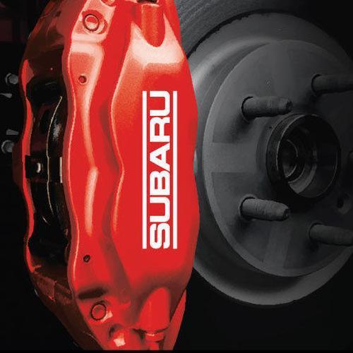 6-teiliges Set Subaru Impreza WRX STI Bremssattel HIGH TEMP. Vinyl Aufkleber Aufkleber Logo Grafik