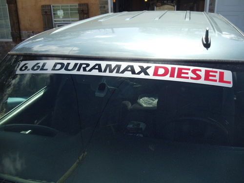 6.6L DURAMAX DIESEL Windshield Topper Decal