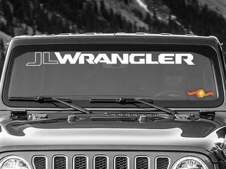 Jeep Wrangler JLJLU Wrangler Windschutzscheibe Banner Vinyl Aufkleber