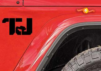 TJ Jeep Wrangler CUSTOM DECALS premium quality automotive grade 2 decals set.