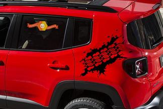 NEW 2015 2016 2017 Jeep Renegade Matte Black Graphics / Decals