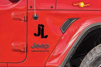 JL Jeep Wrangler premium quality automotive grade 2 decals set