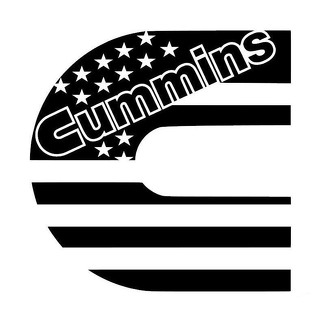 Dodge Cummins C American USA Flag Decal Sticker for Window, Truck, Yeti