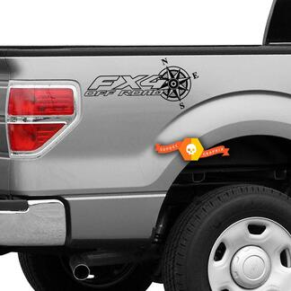 Ford F-150 FX4 Off-Road Truck f150 explorer Pair Decals Vinyl Decal f 150 outline