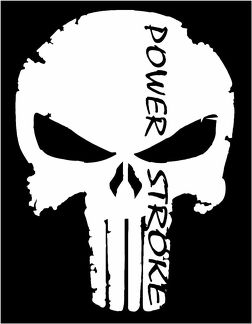 Punisher Ford Powerstroke F250 F350 Diesel Truck Window vinyl sticker decal