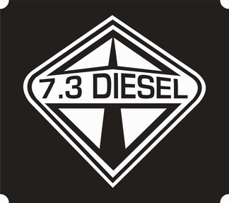 International 7.3 Power Stroke DIESEL Decal Sticker VERY FAST FREE SHIPPING!