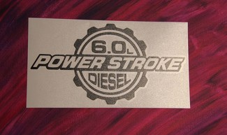 2x 6.0 Powerstroke Turbo Diesel Hood Window vinyl decal Sticker Super duty Ford