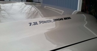 7.3L, 6.7L, 6.4L, 6.0L Powerstroke Diesel hood decal / sticker Ford F250 / F350