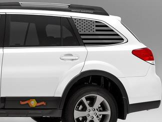 Subaru Outback American Flag Decals - Stickers Vinyl Accessories Subie 09 - 18
