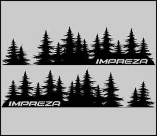 IMPREZA Tree Decal Subaru sticker vinyl door Graphic Mountains Northwest PNW JDM
