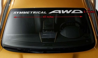 SUBARU SYMMETRICAL AWD Windshield Banner Long Lasting Vinyl Decal Sticker 45x2