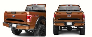 Ford F-150 2015-2017 (Matte Black) Lower Tailgate Panel Stripes Sticker Decal