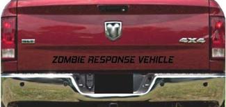 Vrachtwagen achterklep zombie respons voertuig bed sticker grafische letters