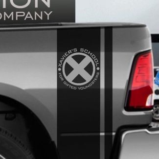 Hemi Dodge Ram RT Vinyl Side Stripes X-Men Xavier School logo Comics superheroes