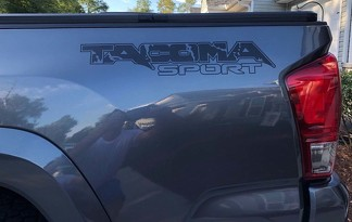 Tacoma Raptor Style Bed Decal (Solid Color)