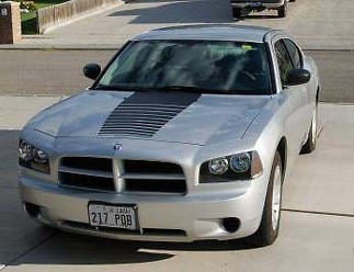 2006-2010 DODGE CHARGER FADING HOOD STRIPE DECAL STICKERS