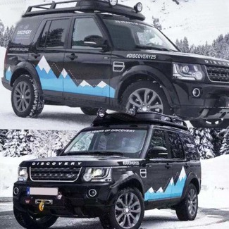 Graphics Snow Mountain Car Sticker Side Skirt Decal For Land Rover Discovery