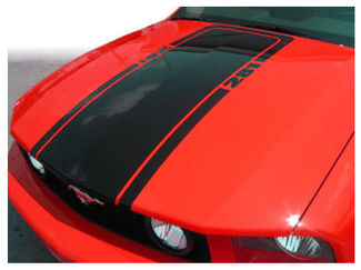 2005-2009 Ford Mustang Mach1 Hood Stripe Blackout Decal Retro 2006 2007 2008