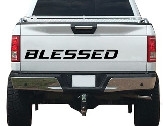 Blessed Decal Tailgate vinyl sticker Grateful Thankful Fits 4x 4 off road WB23