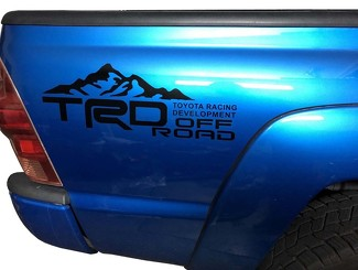 TOYOTA TACOMA TRD Side Bed Decals Off Road Racing Development Vinyl Cut Stickers