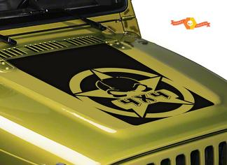 Jeep Wrangler Gas Mask 4x4 Vinyl Hood Decal Sticker LJ, TJ JK JKU Offroad Funny