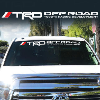 Toyota TRD Windshield Tacoma Tundra off road Racing 4x4 Decal Sticker Vinyl ll