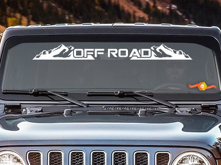 OFF ROAD - Windshield Banner Decal Back window Sticker fits Jeep 4x4 mud