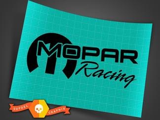 2X MOPAR RACING DECAL, SRT, HEMI, VINYL DIE CUT STICKER 8.5 x 3