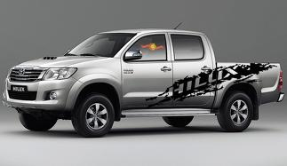 2x Toyota Hilux large side Vinyl Decals graphics rally sticker