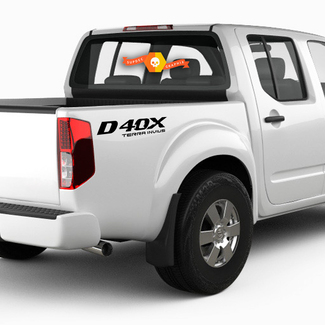 2X Nissan Frontier D40X Vinyl Both Side Stickers Decals 4x4 Graphics