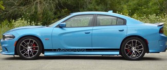 2X Dodge Charger MOPAR Rocker Panel Aufkleber Stripe Vinyl Graphics Kit 2011-2018