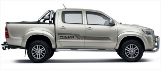 2x Toyota Hilux side Vinyl Decals graphics rally sticker