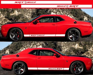 2X DODGE CHALLENGER Hellcat Side Vinyl Decals graphics rally sticker 2009-2018