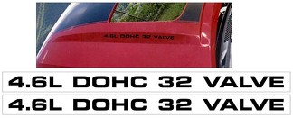 2003-04 MUSTANG MACH 1 - 4.6L DOHC 32 VALVE - HOOD DECALS - TWO DECALS