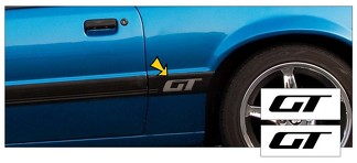 1985-86 MUSTANG - GT - QUARTER PANEL MOLDING INSERT - TWO DECAL SET