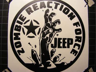 Jeep Decal Zombie