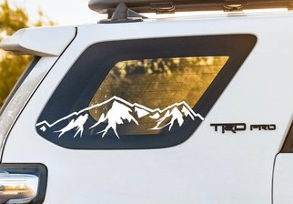 4Runner Window Mountain decal, Window Mountain decal, 4runner Mountain decal, Mountain decal