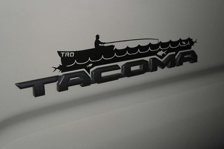 3rd Gen Tacoma Fisher Man Vinyl Decal With or Without TRD