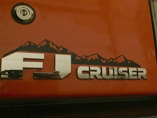 Toyota FJ Badge Decal, FJ Mountain Badge Decal