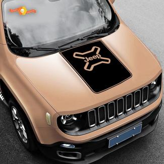 Jeep Renegade Hood Blackout Vinyl Decal