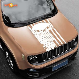Punisher Skull Flag Decal American Flag Vinyl Decal Jeep Truck