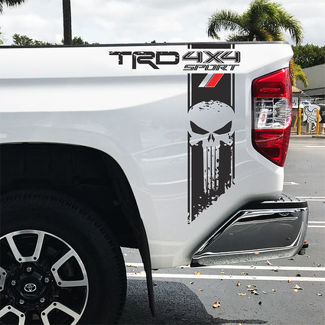 Toyota TRD Tundra Punisher sport 4x4 Racing Decals Vinyl Sticker Decal v
