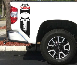 Tundra TRD Logo Punisher Sport Off Road 4x4 Toyota Decals Vinyl Stickers Decal F