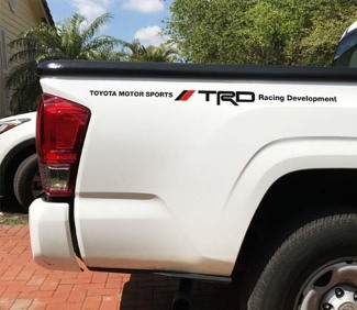 Toyota TRD TUNDRA Tacoma Racing Vinyl Decal Sticker 2 sides Bed Truck Decals +R