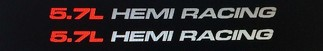 (1) Pair Decals For 5.7L HEMI RACING Fits Dodge Ram V8 1500, 2500 17