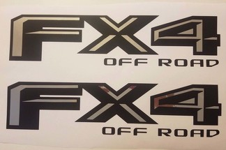 4x4 off road 2017 decal Matt black and chrome, decal stickers ford truck (SET)