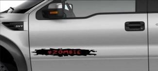 Vrachtwagen Deur Biohazard Zombie Decal Grafisch Bed Stripe Fit SUV 4x4