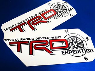 Toyota TRD Truck Off Road Racing Tacoma Tundra Expedition Vinyl Sticker Decals